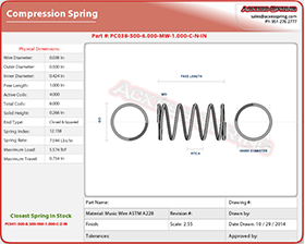 coil compression spring calculator instructions generate blueprint