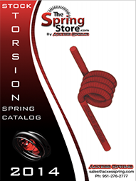 stock torsional spring catalog cover