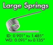 large torsion spring sizes