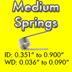 medium torsion spring sizes